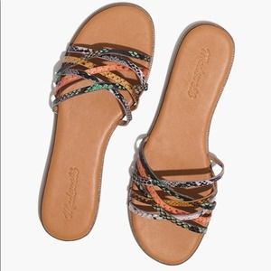 Madewell  Tracie Crisscross Slide Sandal Size 8.5 NEW